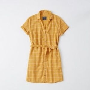 Abercrombie & Fitch Tie-Front Shirt Dress